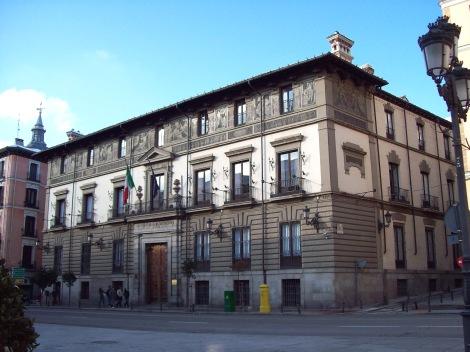 Palacio de Abrantes, at 86 Calle Mayor (street) in Madrid (Spain).